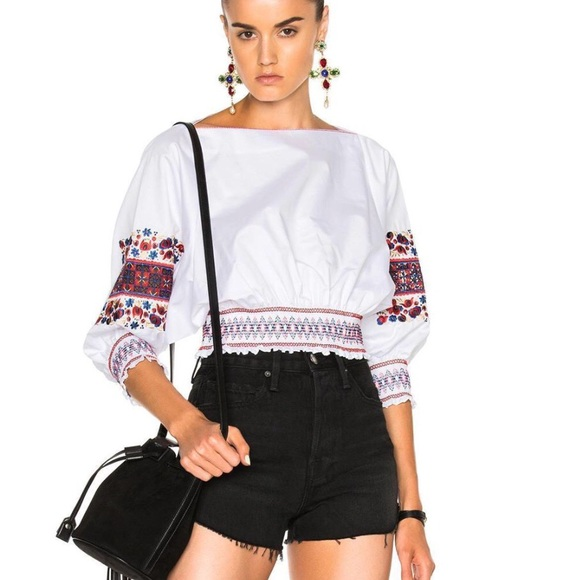 522670ce959dd 🖤TIBI Cora crop top embroidered boho vibe